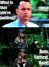 Forrest Gump Memes - captain jack sparrow and forrest gump funny pictures quotes