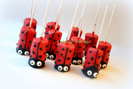 ladybug baby shower favors ladybug birthday party favors dessert chocolate dipped