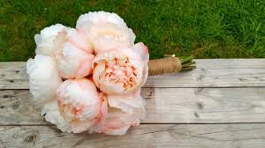 Silk Peonies Pink U0026 White Peony Wedding Bouquet Made With Real Touch Silk Peony
