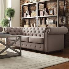 kyle tufted linen sofa choose color linens tufted sofa and