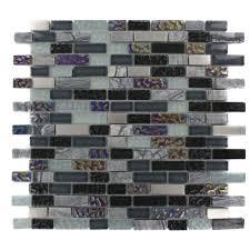splashback tile temple midnight 12 in x 12 in x 8 mm glass
