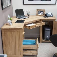 Solid Oak Corner Desk Office Desks New Solid Wood Corner Desk Home Office Solid Wood