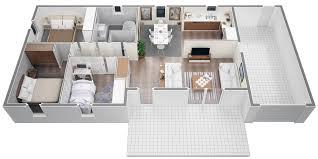 plan de maison 3 chambres salon cuisine villa contemporaine m plain pied modã le lys salon de plan