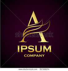 abstract letter logo designgold industry stock vector