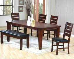 dining room table and bench set dining table bench two chairs big and small room sets with seating
