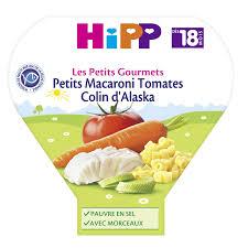 cuisine bebe 18 mois plat bébé dès 18 mois macaroni colin hipp hipp l assiette de 260