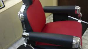 Barbers Chairs 1950 U0027s Belmont Barber Chair Restoration Finished Product Hd