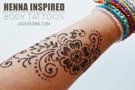henna inspired body tattoos jaderbomb