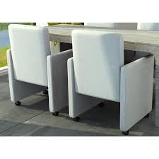 Esszimmer Stuehle Esszimmer Stühle 2er Set Auf Rädern Weiß Gepolstert