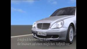 mercedes benz w220 pre safe two generation youtube