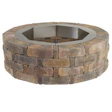 Firepit Ring Square Brick Pit Home Depot Ring Bricks For