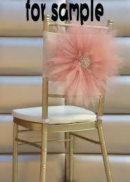 diy chair sashes 2018 sle of 2015 wedding chair covers 3d tulle flower chair