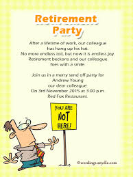 retirement party invitations retirement party invitation wording ideas and sles wordings and