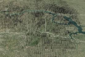 Map North Dakota What North Dakota Would Look Like If Its Oil Drilling Lines Were