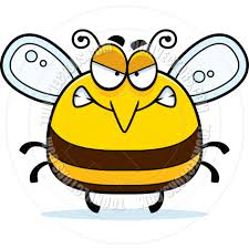 cartoon little bee angry by cory thoman toon vectors eps 4326