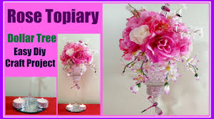 Rose Home Decor by Rose Topiary Diy Dollar Tree Easy Wedding Centerpiece Or Home