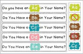 graphing the letters in your name teaching the little people