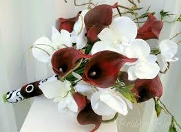 silk wedding bouquet calla white orchid wedding bouquet in bloom