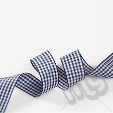 blue gingham ribbon navy blue gingham ribbon 25mm x 20 metres my carrier bag for