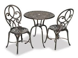 Chair King Outdoor Furniture - san paolo cast aluminum bistro set chair king