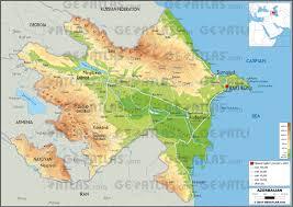Physical Maps Geoatlas Countries Azerbaijan Map City Illustrator Fully Stunning