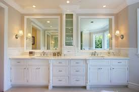 Traditional Master Bathroom With Inset Cabinets  Master Bathroom - White cabinets master bathroom