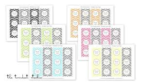 hgtv free printable chevron invitations u0026 favor tags in 6 colors