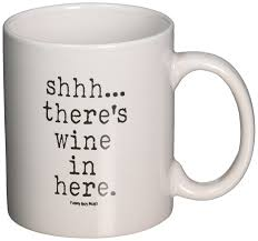 amazon com funny guy mugs shhh there u0027s wine in here ceramic