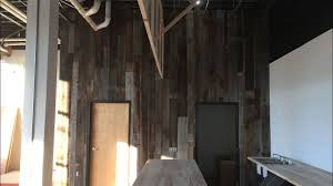 Wood Wall Treatments Barn Wood Wall Treatment Vertical Plank Time Lapse Youtube