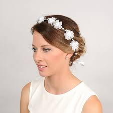 white flower headband flower headband white floral crown woodland wreath whimsical