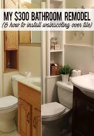 Installing Shiplap 300 Bathroom Remodel Installing Shiplap Or Paneling Over Tile