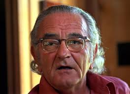 lyndon b johnson with long hair during an interview in august