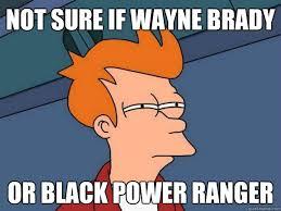 Black Power Ranger Meme - not sure if wayne brady or black power ranger futurama fry