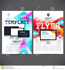 e brochure design templates abstract flyer brochure design templates stock vector