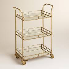 Rolling Kitchen Chairs by The Daily Hunt The O U0027jays Gold Bar Cart And Bar Carts