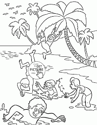 summer fun coloring page for kids seasons coloring pages