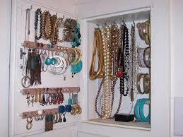 bracelet necklace organizer images Ideas design how to create closet jewelry organizer interior jpg