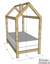 Dimension Of Twin Bed Remodelaholic House Frame Twin Bed Building Plan