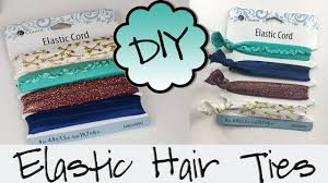 creaseless hair ties diy hair ties no sew creaseless elastic hair ties