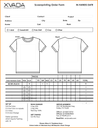 6 t shirt order form template excel workout spreadsheet
