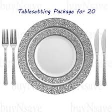 silver wedding plates buy wedding party disposable plastic plates symphony clear