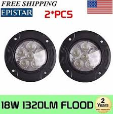 round led driving lights 2x 3 5 inch 18w led driving light flood round work l offroad suv