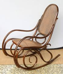 Wooden Rocking Chair Dimensions Vintage Thonet Bentwood Rocking Chair At 1stdibs