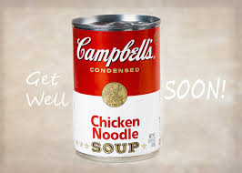 get well soon soup get well soon with some cbell s chicken noodle soup photograph by