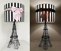eiffel tower table eiffel tower shaped table l with stripes shade pink bow