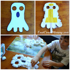 east coast mommy ghost mask preschool craft with free printable