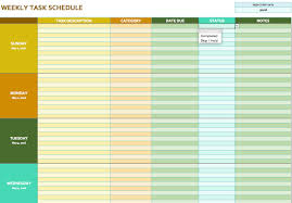 free teacher planner template free weekly schedule templates for excel smartsheet weekly task schedule template