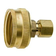Kitchen Faucet Hose Adapter Everbilt Lead Free Brass Garden Hose Adapter 3 4 In Fht X 1 2 In