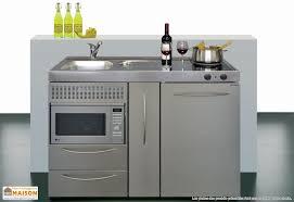 mini cuisine studio mini cuisine inox avec micro ondes mpmes120 mobiliers