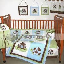Frog Baby Bedding Crib Sets Frog Tortoise Print Cotton Baby Bedding Set 9pcs Dinodirect